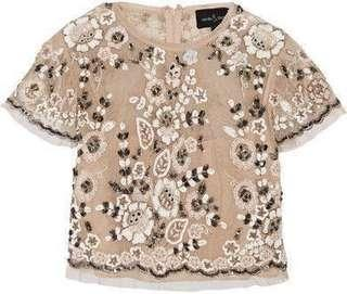 Needle & Thread petal embellished tulle top Rental (N & T) UK8 輕婚紗 PW外拍婚紗裙租借
