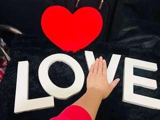 婚後物資婚禮佈置(木做字母LOVE, welcome字粒$