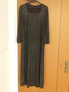 Muslimah dress black