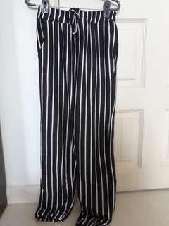 🚚 Dark Grey Vertical Striped Pants