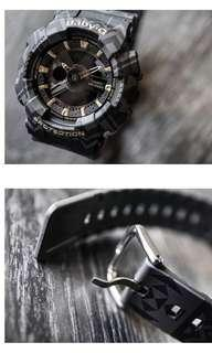 🚚 🌟 LIMITED EDITION Casio Baby-G Tribal Pattern Black/Gold Watch BA-110TP-1ADR