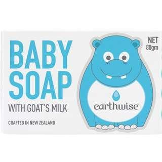 紐西蘭製造 Earthwise 山羊奶嬰兒番梘 80g