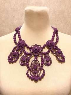 Violet/Purple Statement Necklace (adjustable)