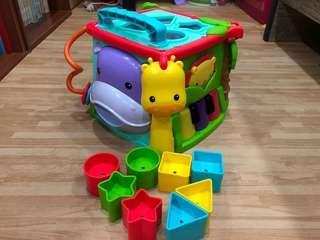 🚚 費雪可愛動物積木盒