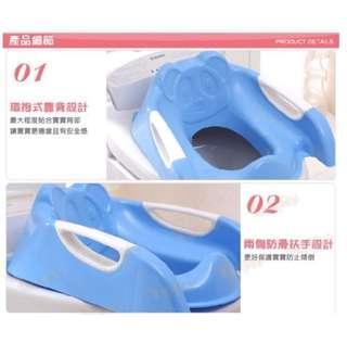 全新幼兒折疊馬桶梯(藍色)