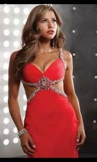 Red Prom Dress Size 6