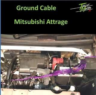 Ground cable set for Mitsubishi Attrage
