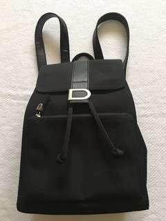 DKNY Black Nylon Slim Backpack