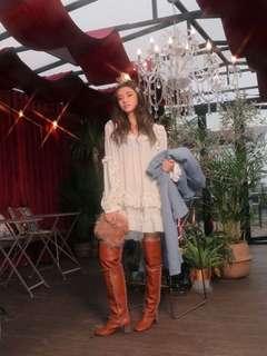 🚚 STYLENANDA Square Neck Frilled Mini Dress (inspired)