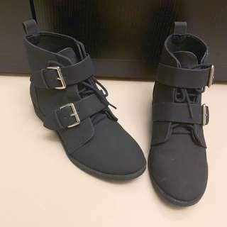 H&M 全新 釦環 踝靴