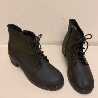 合成皮 踝靴