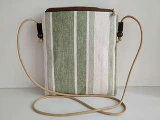 日本布製手作斜背袋 未用過