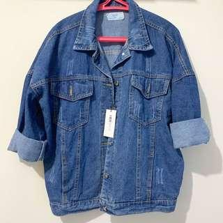 NEW! overloose denim jacket