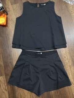 Dark grey top and bottom set