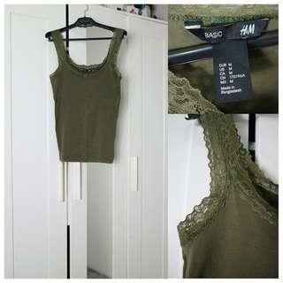 Army Lace Top H&M