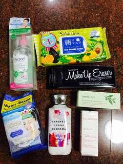 ALL BRAND NEW SKIN CARE AND MAKE UP REMOVERS