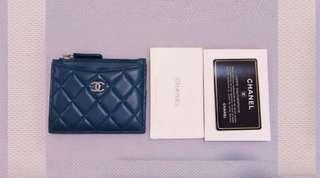 Chanel香奈兒限量藍灰色零錢包、卡夾錢包、卡夾包(下標前先詢問商品還在不在喔😊)