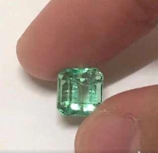 哥倫比亞祖母綠,極微油2.139cts,龍彩
