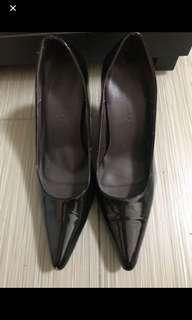 100% brand new black patent point high heels 全色黑色漆皮尖頭高跟鞋