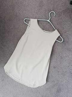 Forever 21 Dolphin Hem Tank, Nude/Beige, Small