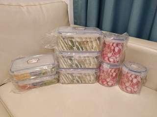 食物密實膠盒8件 未開封 可散買