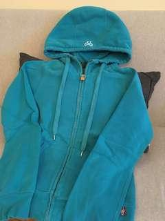 XS TNA turquoise hoodie