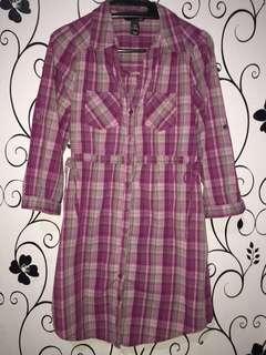 H&M plaid dress/long top