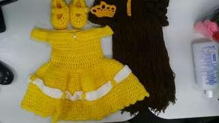 Belle (Beauty and the Beast Inspired) Crochet Costume