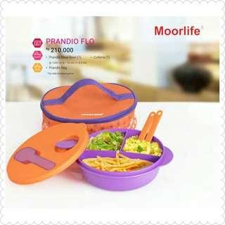 wadah bekal prandio flo oranye (microwave available).