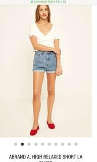 Abrand high waisted shorts in blue
