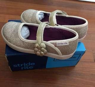 Stride Rite Gold Mary Janes