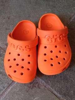 Kids Original Crocs Size C8 - Orange colour