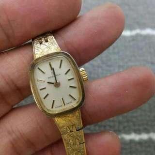 🚚 RODANIA 瑞士原裝 羅唐納 樹葉脈絡紋錶帶 稀有 古董錶 手動上鍊 晚宴錶...免運費