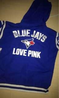 PINK zip up blue jays