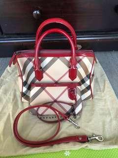 Authentic Burberry raspberry sorbet bowling bag