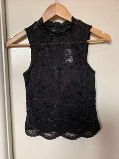 🆕Black lace crop #SwapAU