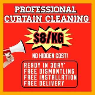 curtain cleaning/laundry