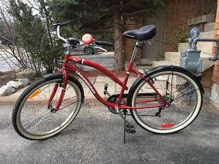 "Ladies Red 26"" Cruiser Bicycle"