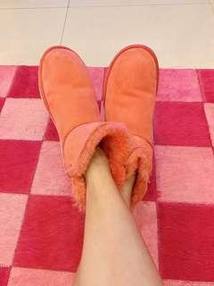 「日本專櫃購入」UGG橘綠色撞色雪靴