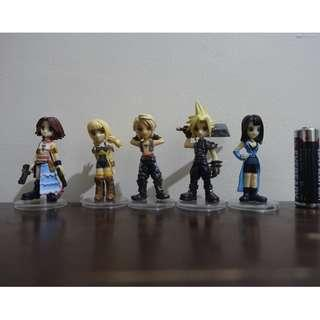 Final Fantasy 7,8, 10 X, 12 XII Trading Arts Set of 5 Figures