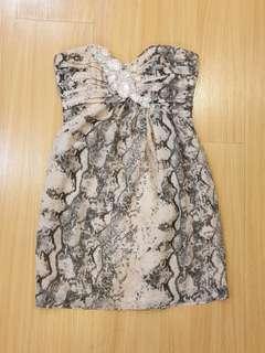 H&M Python Printed Tube Dress