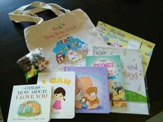 NEW NLB tote, zip, goodie bag & books
