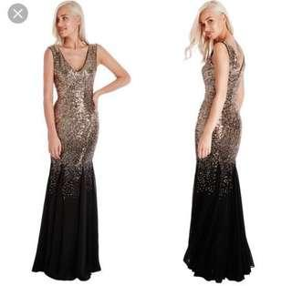 Gold Evening Gown - Goddiva