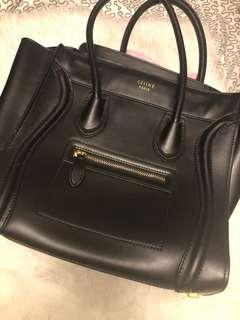 Black purse. Real leather