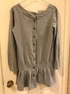 二手韓文質下緣裙擺設計休閒上衣#半價衣服市集