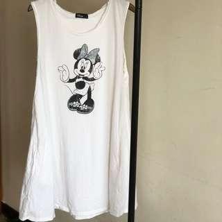 🚚 Lovfee Disney 迪士尼 米老鼠 米妮 連帽 連身 長版 無袖 背心