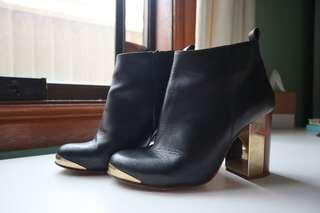 Topshop boots with metal detail