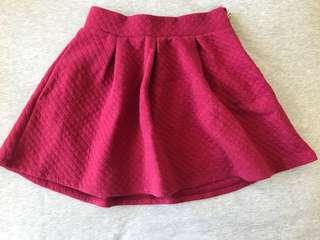Preloved H & M Girl's Maroon Skirt in size 5/6 yrs old