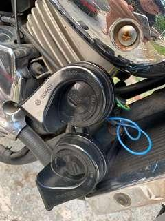 Air horn for motorbikes