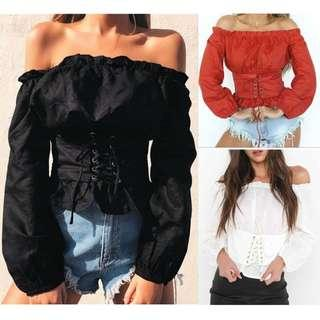 PO Corset Off Shoulder